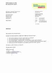 Anfrage Neubaugebiet Alpen-Ost