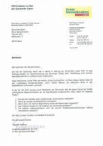 Anfrage Reparaturarbeiten Bönninger Straße