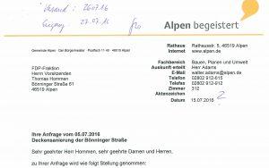 Antwort_Anfrage Instandsetzung Bönninger Straße